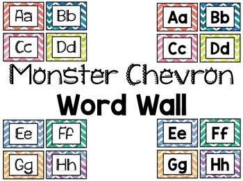 Monster Chevron Wordwall