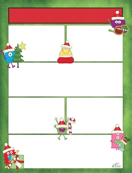 Monster Christmas Newsletter for Word