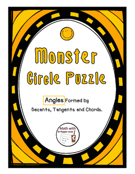 Monster Circle Puzzle - Angles Formed By Secants and Tangents