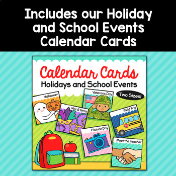 Monster Theme Classroom Decor Calendar