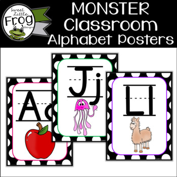 Monster Classroom Alphabet Posters