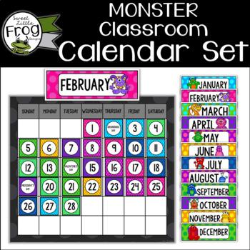 Monster Classroom Calendar Set