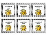 Editable Monster Classroom Cards!