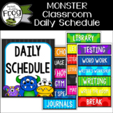 Monster Classroom Daily Schedule