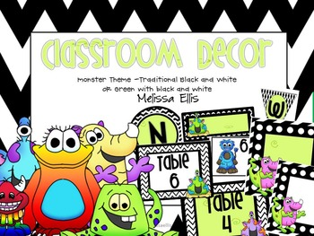 Monster Classroom Decor