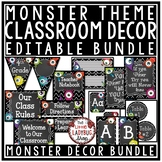 Monster Theme Classroom Decor- Editable