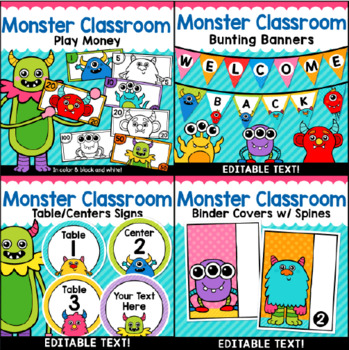 Monster Theme Classroom Decor Mega Bundle