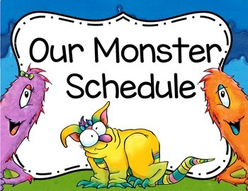 Monster Classroom Decor Schedule Cards