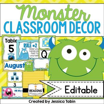 Monster Themed Classroom Decor