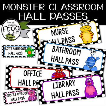 Monster Classroom Hall Passes