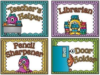 Monster Classroom Jobs