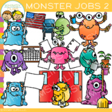 Monster Classroom Jobs Clip Art - Set Two