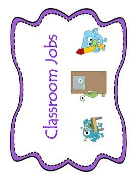 Monster Classroom Jobs Labels