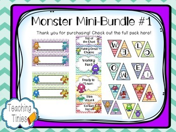 Monster Classroom Mini-Bundle #1
