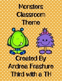 Monster Classroom Pack