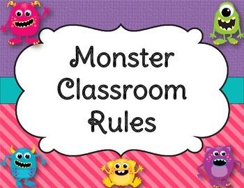 Monster Classroom Rules (EDITABLE!)