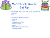 Monster Classroom Set Up Decorations