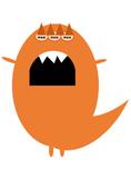 Orange Monster Clip Art