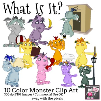 Monster Clip Art for Describing Every Day Objects Clipart for Teachers
