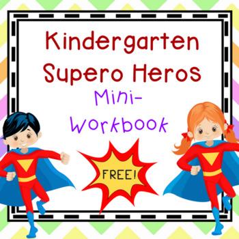 Kindergarten Superhero Mini-Workbook