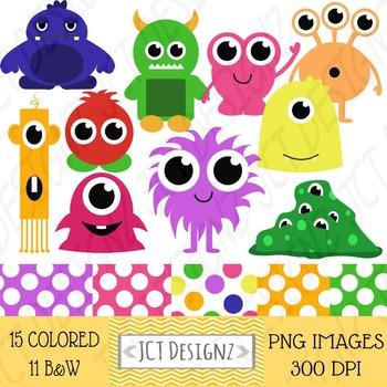 Monster Clip art, monster clip art, little monsters, cute monsters