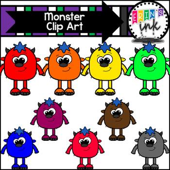 Monster Clipart (Erin's Ink Clipart)