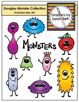 Monster Clipart - Googley Monsters Collection - Graphics
