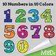 Monster Clipart Numbers - Cute Cartoon Monster Math