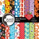Monster Clipart and Digital Papers Bundle {Best Teacher Tools} AMB-1637