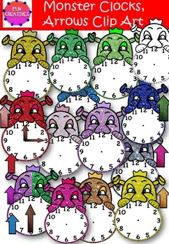Monster Clock Clip Art