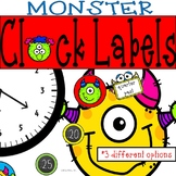 Monster Clock Labels: Perfect for Telling Time! Monster Classroom Theme Decor