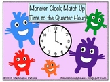 Monster Clock Match Up ~ Time to the Quarter Hour