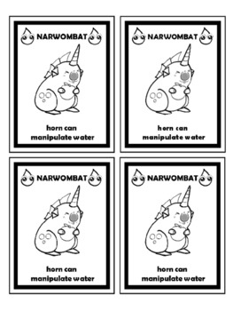 Monster Collectible Classroom Reward Cards