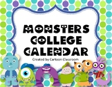 Monster College Calendar