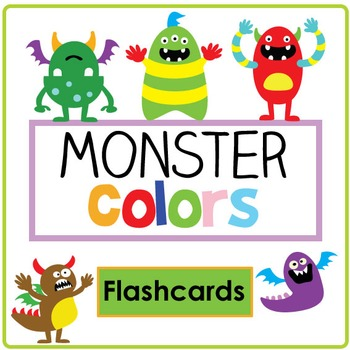 Monster Color Flashcard Set