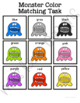Monster Color Match Folder Game for Early Childhood Special Education
