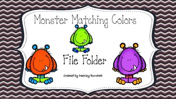 Monster Color Matching-Autism