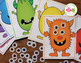 Monster Color Matching and Counting Activity:  Halloween Math Activities