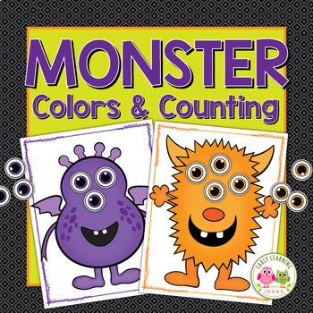 Halloween Math Activities | Monster Color Matching and Counting Activity