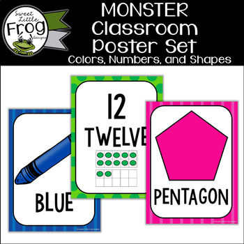 Monster Classroom Color Number and Shape Posters