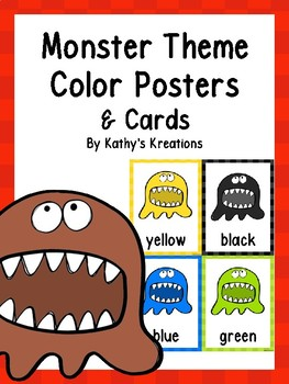 Monster Color Posters & Cards