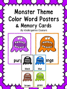Monster Color Posters & Memory Cards