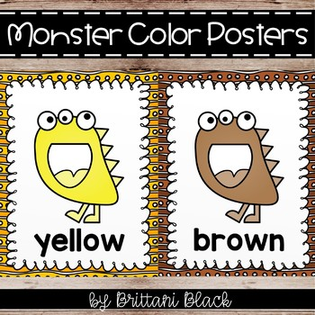 Monster Color Word Posters