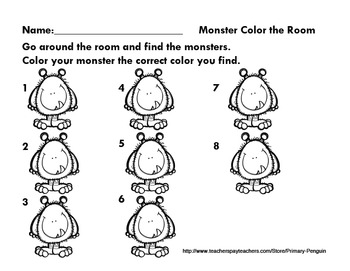 Monster Color Write the Room