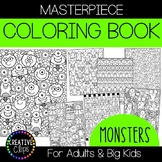 Monster Coloring Pages: Masterpieces {Made by Creative Clips}