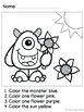 Monster Colors Emergent Reader and Coloring Packet