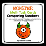 Monster Comparing Numbers Task Cards