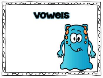Monster Consonant and Vowel Sort
