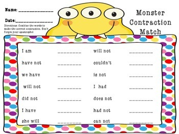 Monster Contraction Match