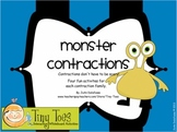 Monster Contractions for Mimio - 4 games for each contraction